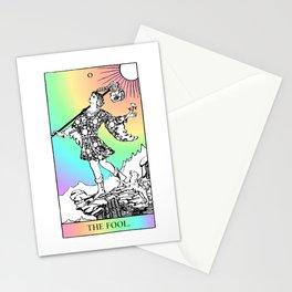0. The Fool- Pastel Rainbow Tarot Stationery Cards