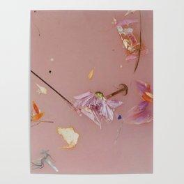 Harry Styles - pink flowers album Poster