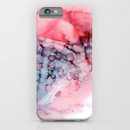 Crimson Eggplant Bubble Cornucopia iPhone Case