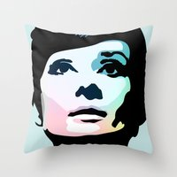 posters Throw Pillows featuring Audrey Hepburn Posters by Creativehelper