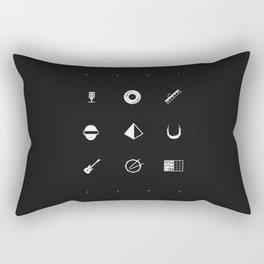Tribute to Daft Punk, B&W. Rectangular Pillow