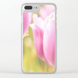 Spring is here with wonderful  colors - close-up of tulips flowers Clear iPhone Case