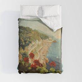 Vintage Travel Ad Amalfi Italy Comforters