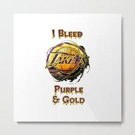 i bleed purple gold Metal Print