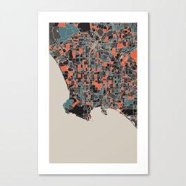 Los Angeles Multicoloured Print Canvas Print
