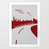 ferris bueller Art Prints featuring Ferris Bueller by Jonathan Bender