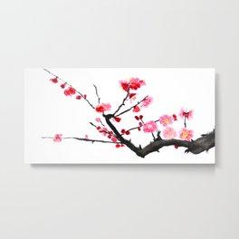 red plum flower Metal Print