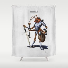 Soldiering On Shower Curtain
