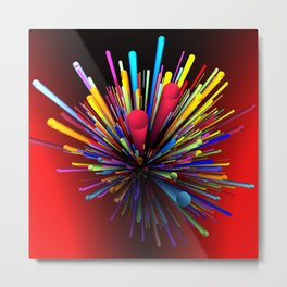 color explosion -2- Metal Print
