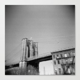 Brooklyn Bridge 03, Holga Canvas Print