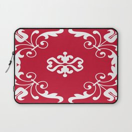 Lace Around in Lipstick Red Laptop Sleeve