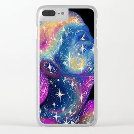Star Girl cosmic pretty face Clear iPhone Case