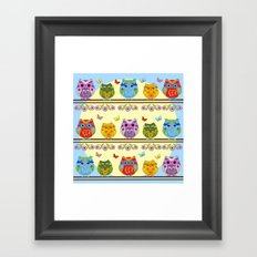 Chilling Summer owls Framed Art Print