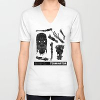 terminator V-neck T-shirts featuring Decommissioned: Terminator  by Josh Ln