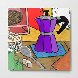 Moka Pot Joy Metal Print