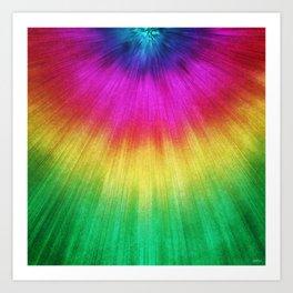 Colorful Starburst Tie Dye Art Print