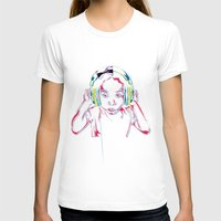 headphones T-shirts featuring headphones by Heavy Rotation