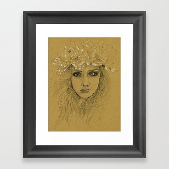 Untitled with Flowers Framed Art Print