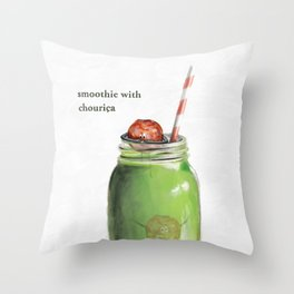 La Cuisine Fusion - Smoothie with Chouriça Throw Pillow