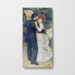 Dance in the Country by Pierre-Auguste Renoir Metal Print