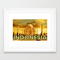 indonesia Framed Art Prints featuring Indonesia by STYLERHINES