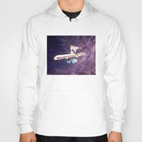 snowboarding Hoodies featuring Snowboarding #2 by Bruce Stanfield