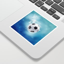 Soccer Water Splash Sticker