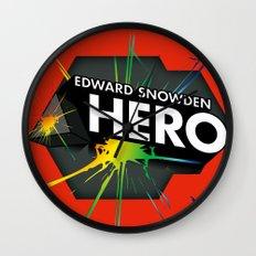Edward Snowden Prism Hero Wall Clock
