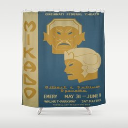 Vintage poster - Mikado Shower Curtain
