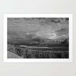 Matanuska Glacier Mono Art Print