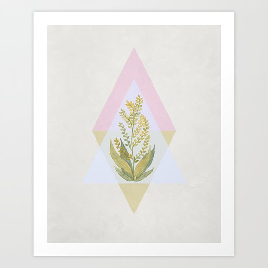 Botanical vibes 09 Art Print