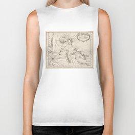 Vintage Map of The Bahamas (1764) Biker Tank
