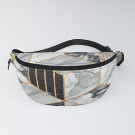 Marble Cubes 2 - Black and White Fanny Pack