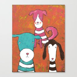 Rosie, Tyler and Montgomery Canvas Print