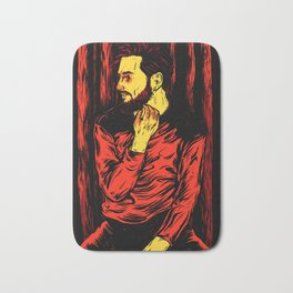 Red Night Bath Mat