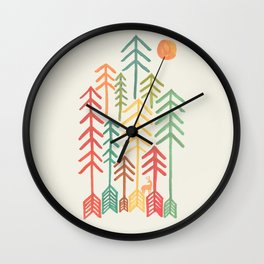 Arrow forest Wall Clock