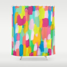 Meet Me In The Rainbow Woods - colorful abstract painting pattern Shower Curtain