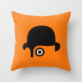 A Clockwork silhouette Throw Pillow