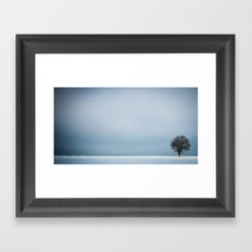 winterminimalism Framed Art Print