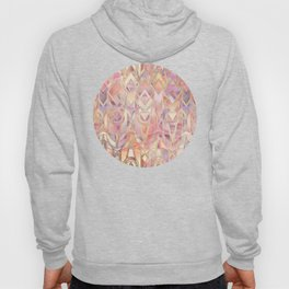 Glowing Coral and Amethyst Art Deco Pattern Hoody