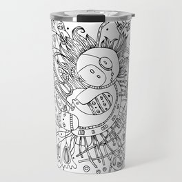 Newborn astronaut Travel Mug