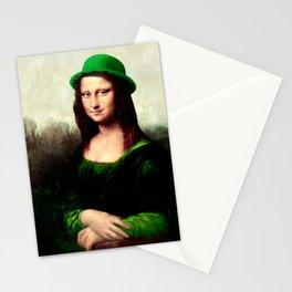 Lucky Mona Lisa - St Patrick's Day Stationery Cards