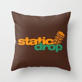 Static drop v6 HQvector Throw Pillow