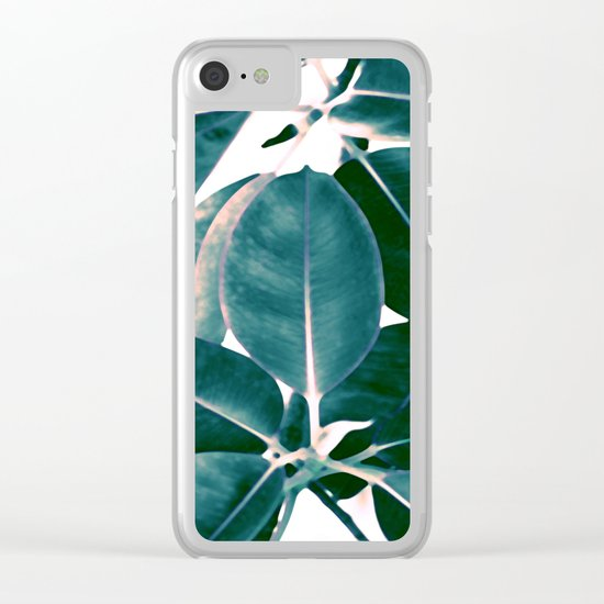 Tropical abstract(7). Clear iPhone Case