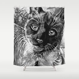 Technicolor - (Black & White) Shower Curtain
