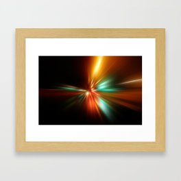 abstract acceleration speed motion on night road Framed Art Print
