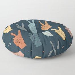 Peace Hands - Autumn Palette Floor Pillow