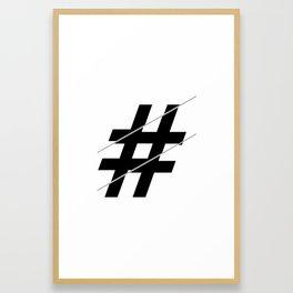 """""""Sliced Collection"""" - Minimal Number Sign Print Framed Art Print"""