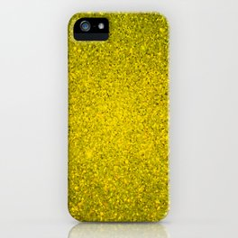 Golden Yellow Sparkling Jewels Pattern iPhone Case