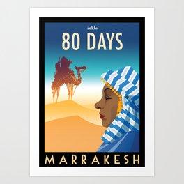 80 Days : Marrakesh Art Print
